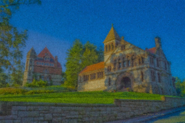 Painting - Ames Hall And Ames Free Library by Bill McEntee