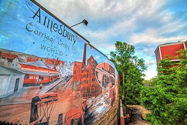 Photograph - Amesbury Ma Mural Over The Powwow River by Toby McGuire