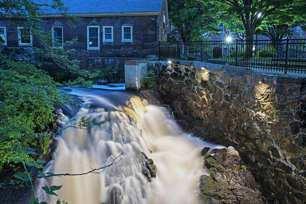 Photograph - Amesbury Ma Waterfall Powwow River Le by Toby McGuire