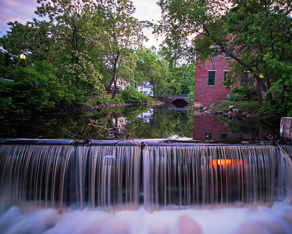 Photograph - Amesbury Ma Waterfall Powwow River Reflection by Toby McGuire