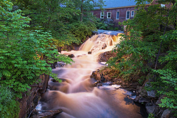 Photograph - Amesbury Ma Waterfall Powwow River Smooth by Toby McGuire
