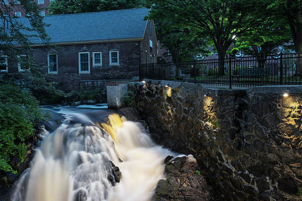 Photograph - Amesbury Ma Waterfall Powwow River by Toby McGuire