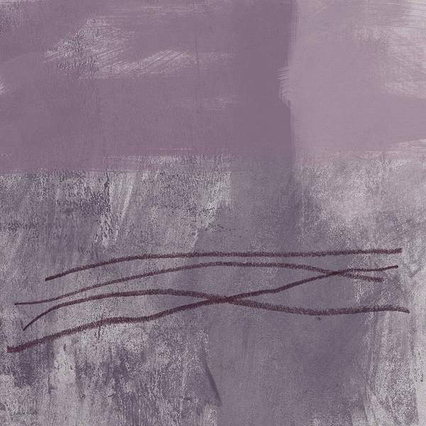 Wall Texture Painting - Amethyst 1- Abstract Art By Linda Woods by Linda Woods