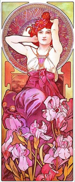 Painting - Amethyst by Alphonse Mucha