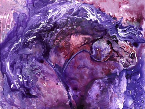 Painting - Amethyst Stallion by Sherry Shipley