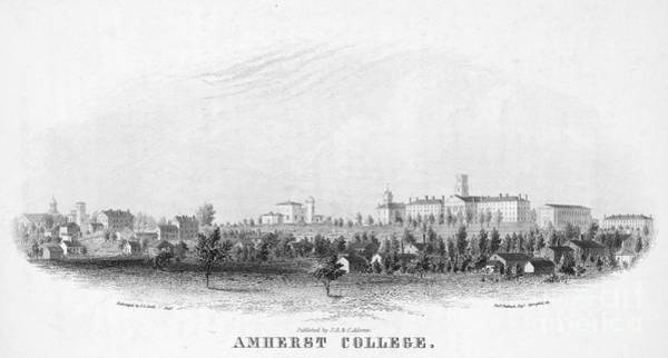1863 Photograph - Amherst College, 1863 by Granger