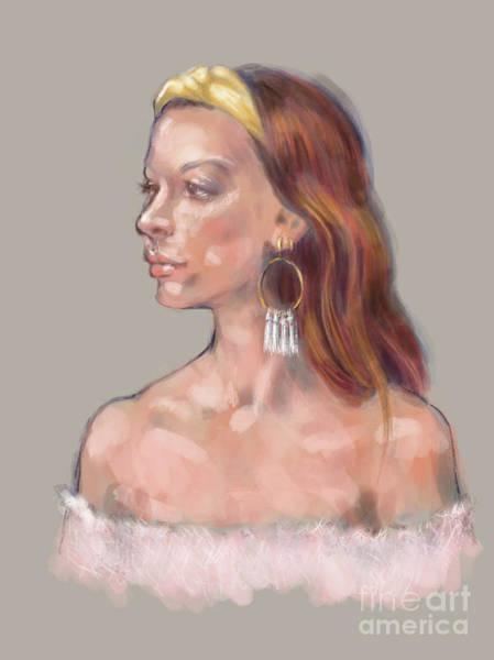 Digital Art - Amiel by Lora Serra