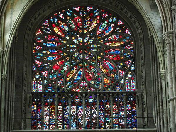 Glass Art - Amiens Cathedral by Alf van Beem