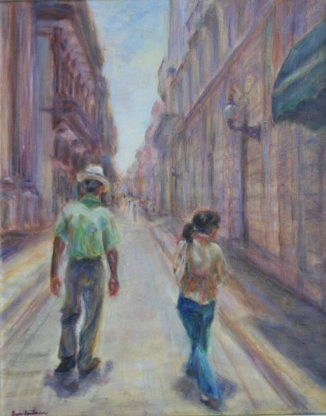 Painting - Amigos En Havana by Quin Sweetman