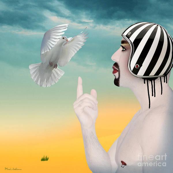 Dove Digital Art - Amir Fun  by Mark Ashkenazi