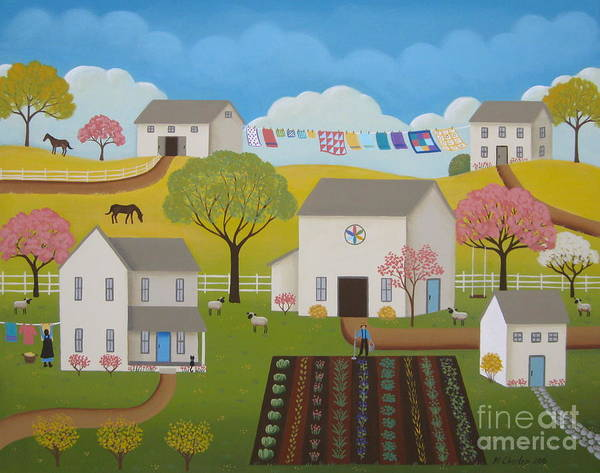 Amish Wall Art - Painting - Amish Afternoon by Mary Charles