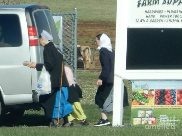 Amish Auction Art Print