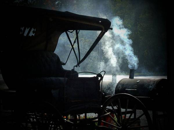 Barbeque Photograph - Amish Buggy Cookout by Michael L Kimble