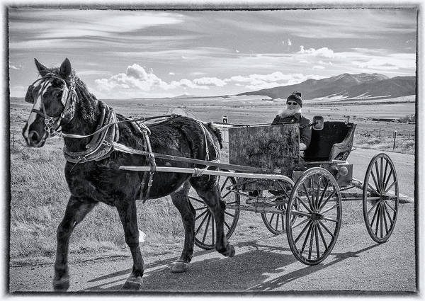 Westcliffe Photograph - Amish Buggy Driver by John Bartelt