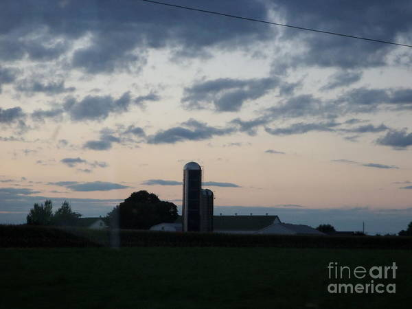 Photograph - Amish Farm At Dusk by Christine Clark