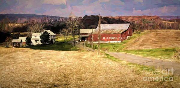Amish Country Digital Art - Amish Farm House Rural America  by Chuck Kuhn