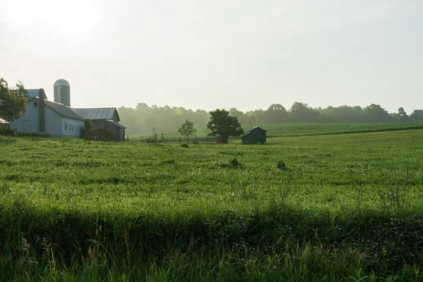 Amish Country Digital Art - Amish Farmland On A Summer Morning by John Kosh