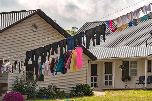 Berlin Ohio Photograph - Amish Laundry Day by Emilio Castrillo