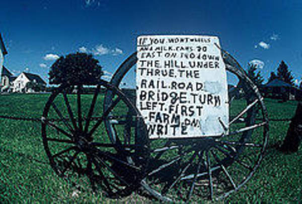 Visual Language Photograph - Amish Sign by The Signs Of The Times Collection