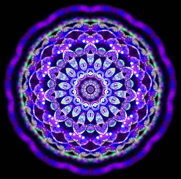 Digital Art - Ammersee Cropcircle Lightmandala Morph by Robert Thalmeier