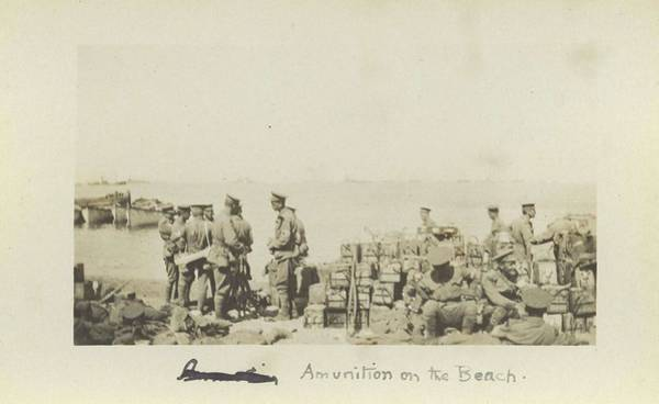Wall Art - Painting - Ammunition On The Beach Gallipoli by Celestial Images