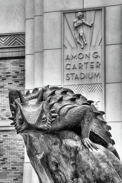 Tcu Wall Art - Photograph - Amon G Carter Stadium Black And White by JC Findley
