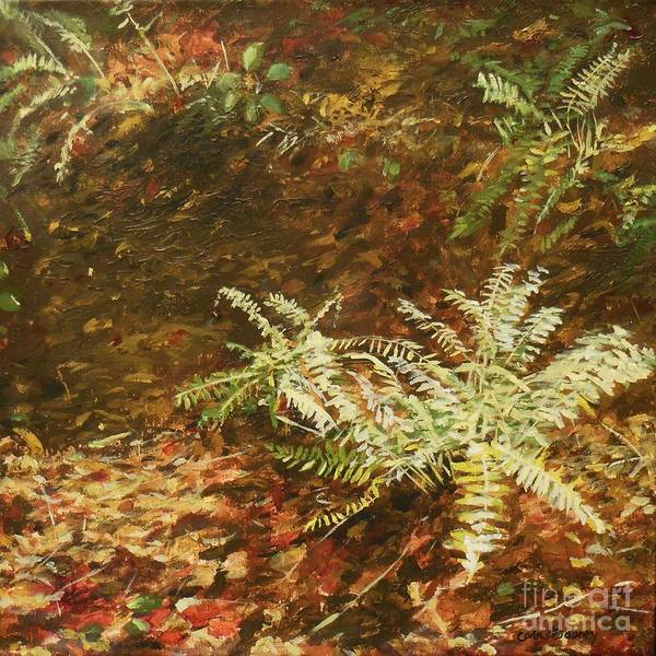 Among The Leaves Art Print by Carla Dabney
