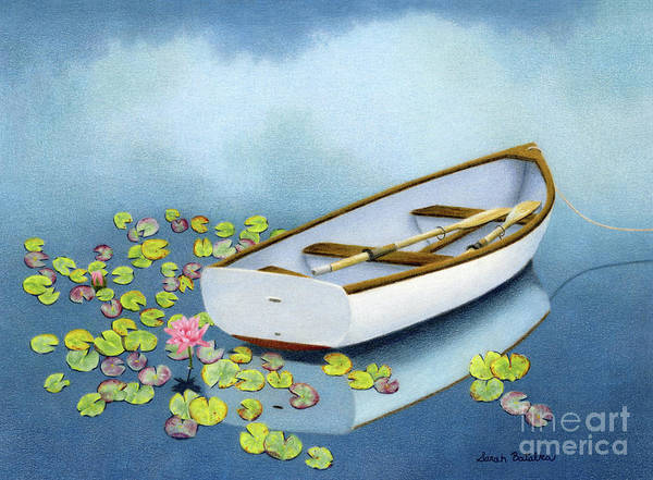 Uplift Painting - Among The Lily Pads by Sarah Batalka