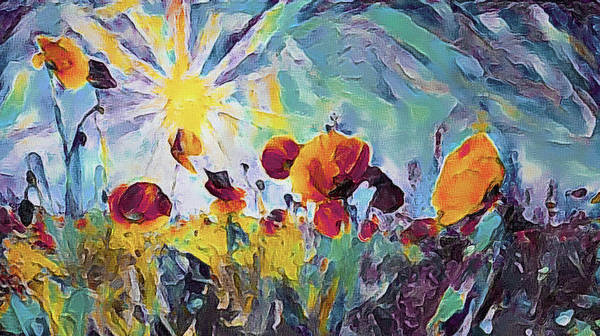 Mixed Media - Among The Poppies by Susan Maxwell Schmidt