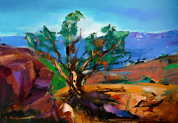 Cathedral Painting - Among The Red Rocks - Sedona by Elise Palmigiani