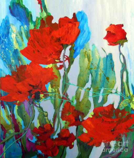 Wall Art - Painting - Among The Roses by Sharon Nelson-Bianco