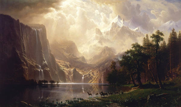 Wall Art - Painting - Among The Sierra Nevada by Albert Bierstadt