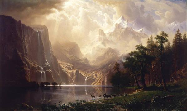 Painting - Among The Sierra Nevada Mountains by Albert Bierstadt
