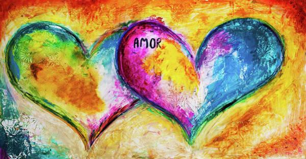 Wall Art - Mixed Media - Amor Amor by Ivan Guaderrama