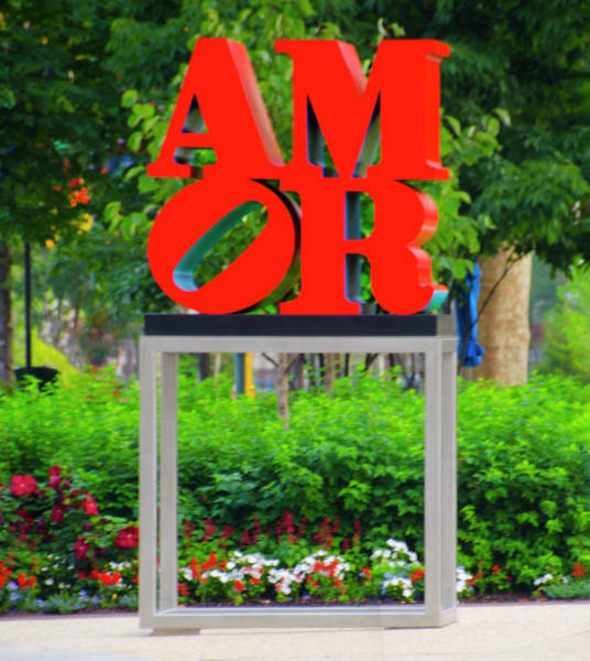 Wall Art - Photograph - Amor On The Parkway - Philadelphia by Bill Cannon