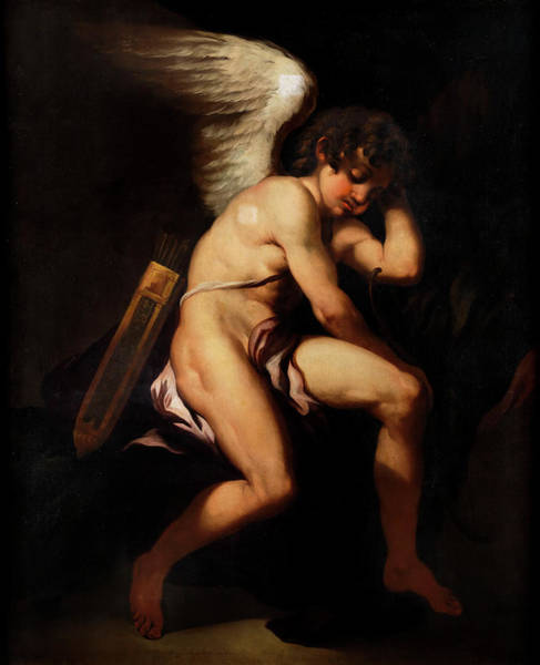 Goddess Of Love Wall Art - Painting - Amor by Painters of the Neapolitan School of the 18th century