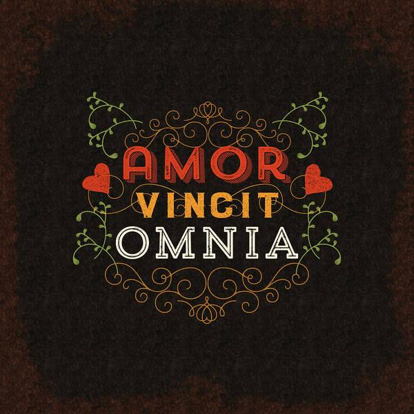 Wall Art - Digital Art - Amor Vincit Omnia by Antique Images