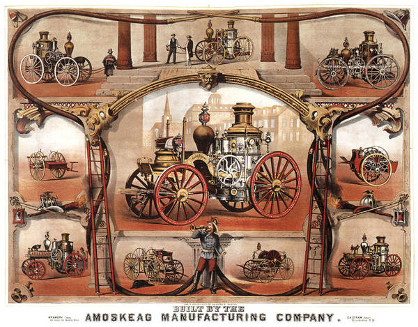Vintage Automobiles Mixed Media - Amoskeag Manufacturing Company - Car - Vintage Advertising Poster by Studio Grafiikka