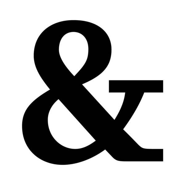 Serif Digital Art - Ampersand In Black Typewriter Style by Custom Home Fashions