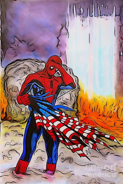 Us Civil War Digital Art - Ams 9/11 Tribute Watercolor Edition by Justin Moore