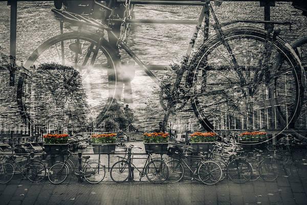 Dutch Tulip Photograph - Amsterdam Bicycle Nostalgia by Melanie Viola