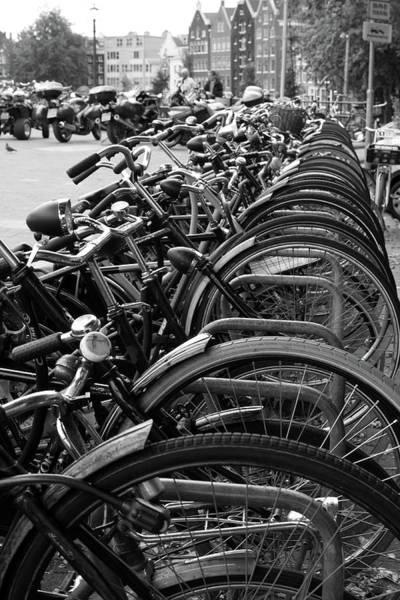 Photograph - Amsterdam Bicycles by Aidan Moran
