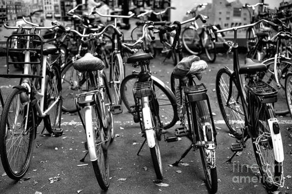Photograph - Amsterdam Bike View Mono by John Rizzuto