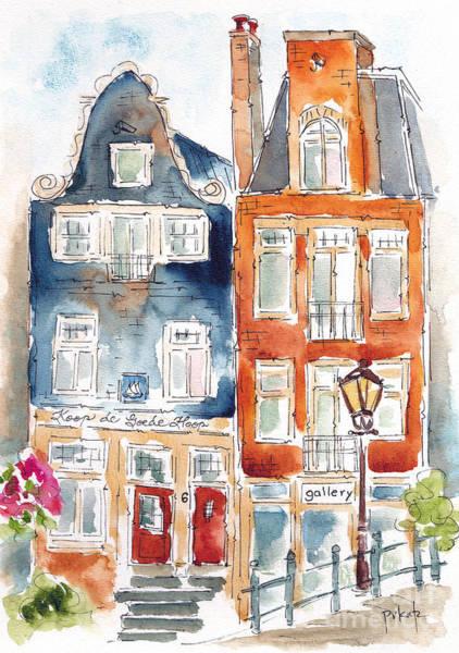 Painting - Amsterdam Buddies by Pat Katz