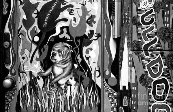 Wall Art - Photograph - Amsterdam Bulldog Graffiti Mono by John Rizzuto