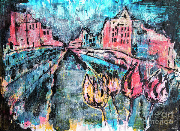 Painting - Amsterdam By Acrylic Painting by Ariadna De Raadt