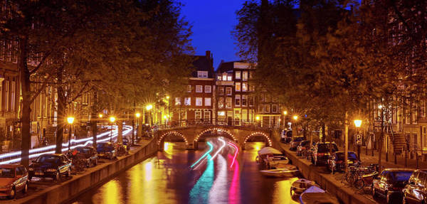 Photograph - Amsterdam By Night by Barry O Carroll