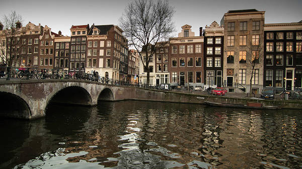 Amsterdam Canal Bridge Art Print