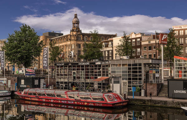 Brick House Mixed Media - Amsterdam Canal Cruises by Capt Gerry Hare