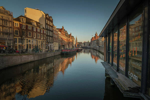 Photograph - Amsterdam Canal by Jay Anne Boza